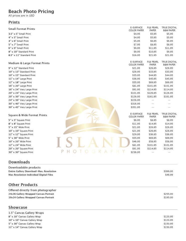 island photography llc family photo print and art pricing. Black Bedroom Furniture Sets. Home Design Ideas